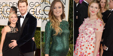 Golden Globes: Stolze Mamas in spe