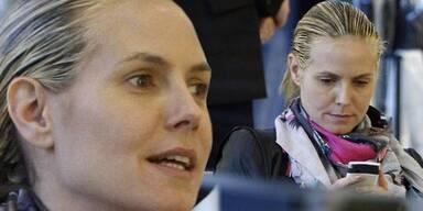 Heidi Klum shoppt mit Seal und ohne Make-up