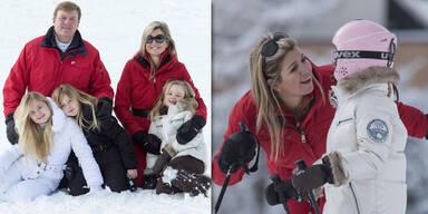 Holländische Königsfamilie startete bei Sonnenschein in Lech-Urlaub