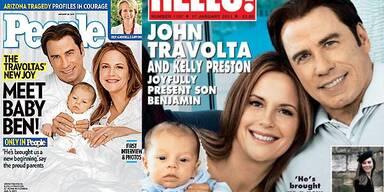 John Travolta & Kelly Preston zeigen Baby Ben