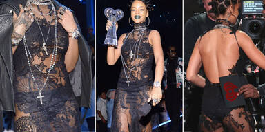 Rihanna fast nackt bei iHeartRadio Awards
