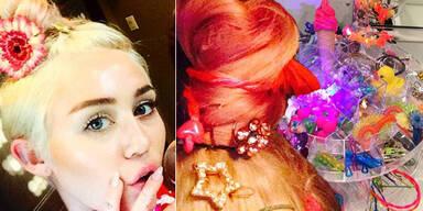 Mileys Bricolage-Haarskulpturen