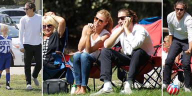 Heidi Klum & Vito Schnabel: Familiensonntag am Fußballplatz