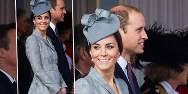 Herzogin Kate strahlt mit Mini-Bauch