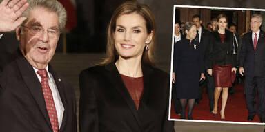 Königin Letizia bezaubert in Wien