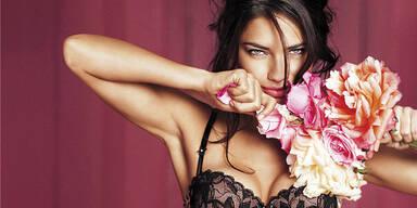 Adriana Lima zeigt Valentinstags-Dessous
