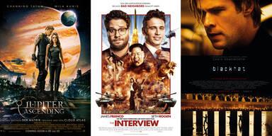 Kinostarts 5.2. - Jupiter Ascending, The Interview, Blackhat