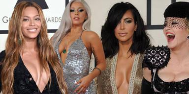 Beyoncé, Lady Gaga, Kim Kardashian, Madonna