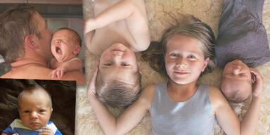 Bode Miller mit seinen Kindern Neesyn, Nate und Nash