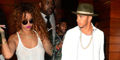 Rihanna & Lewis Hamilton vor dem 1 Oak in New York