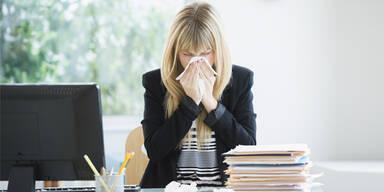 Trotz Krankheit Arbeiten ist beliebter als krankmelden