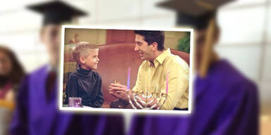 Cole Sprouse & David Schwimmer in Friends