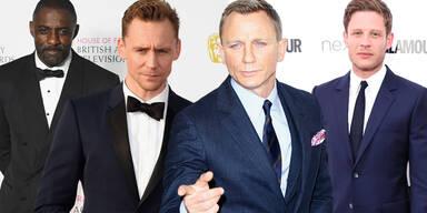 Bond-Nachfolge: Idris Elba, Tom Hiddleston, Daniel Craig, James Norton
