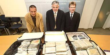 Polizei stellt 105 Kilo Kokain sicher