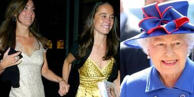 Kate Middleton & Schwester Pippa, Queen Elizabeth