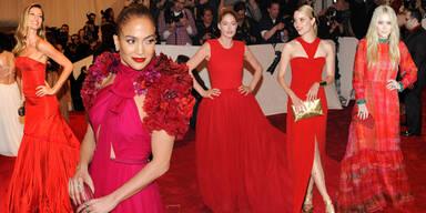 Hollywoodstars setzen auf Rot