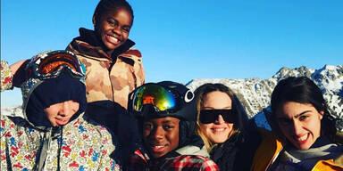 Madonna: Ski-Urlaub mit Rocco, Lourdes, David Banda & Mercy