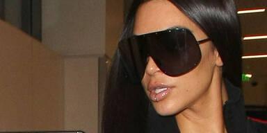 Kim trägt jetzt ein Lippenpiercing