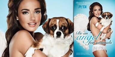 Tamara Ecclestone in neuer Peta-Kampagne: Sei ein Engel für Tiere!