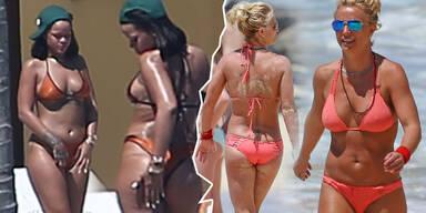 Britney Spears & Rihanna im Bikini