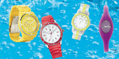 Uhren in Knallfarben