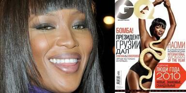 Naomi Campbell nackt in der russischen Ausgabe von GQ