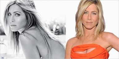 Jennifer Aniston wirbt oben ohne für Smart Water