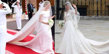 Charlene vs. Kate: Wer war die schönere Braut?