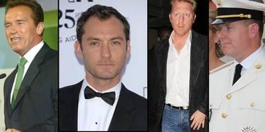 Arnold Schwarzenegger, Jude Law, Boris Becker, Fürst Albert II.