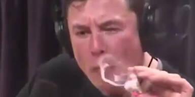Hier kifft Elon Musk live auf Youtube