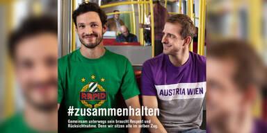 Rapid- und Austria-Fans sind jetzt Freunde