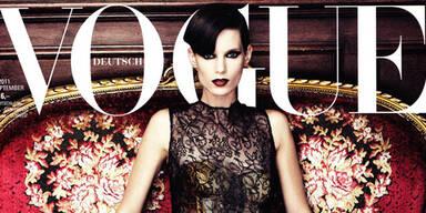 Iris Strubegger verführerisch am Vogue-Cover