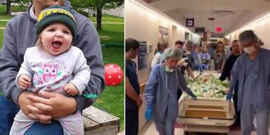 Herzzerreißend: Spital erweist kleiner Heldin letzte Ehre