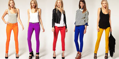 Bunte Jeans