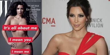 Kim Kardashian nackt im W Magazine