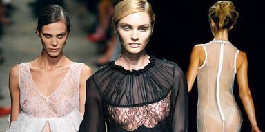 Nackte Haut bei der Italo-Fashionweek