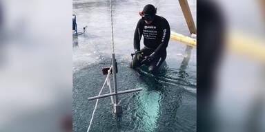 Wiener (43) Freitaucher bewusstlos unter dem Eis