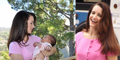 Kristin Davis zeigt ihr Baby