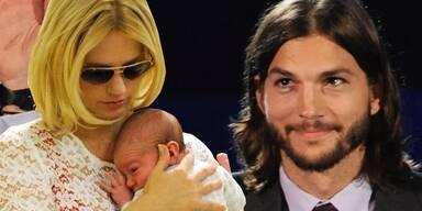 January Jones mit Sohn Xander; Ashton Kutcher