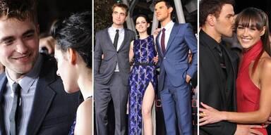 Robert Pattinson, Kristen Stewart, Taylor Lautner, Kellan Lutz, Sharni Vilson