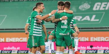 Rapid gewinnt 4:1 im Top-Hit gegen Sturm