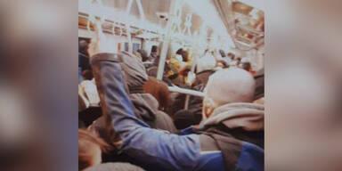 Foto von voller U-Bahn sorgt für Aufregung