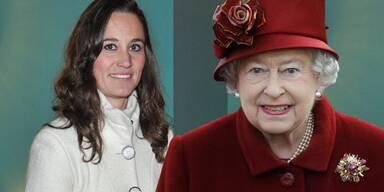Pippa Middleton; Queen Elizabeth II.