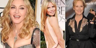 Golden Globes. Madonna, Heidi Klum, Meryl Streep