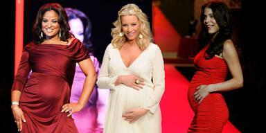 Erste Fashion Show für Schwangere