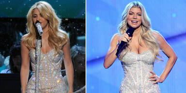 Shakira & Fergie im gleichen Bühnenoutfit
