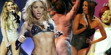 MTV EMAs 2010: Schöne Beine & nackte Tatsachen - Miley Cyrus, Shakira, Eva Longoria Katy Perry
