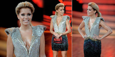 Sylvie im 8 Kilo- Glitzer-Kleid