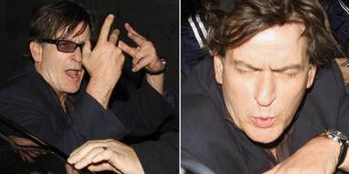 Charlie Sheen betrunken