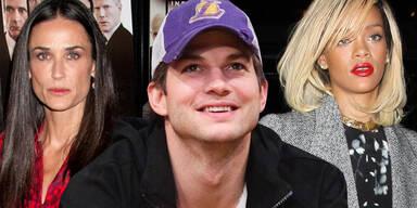 Demi Moore, Ashton Kutcher, Rihanna